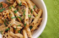 Chicken Marsala Pasta. Heavy cream, marsala wine, mushrooms make this a DREAMY dish.