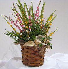Floral Arrangement with Sea Shells