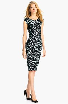 Diane von Furstenberg 'Luisa' Silk Jersey Sheath Dress #Nordstrom