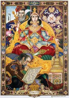"""THE QUEEN ESTHER SERIES"" by Jewish polish-American graphic artist and political activist Arthur Szyk Can be seen at the Sussi collection gallery in Chicago"