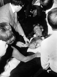 On June 5, 1968, five years after his brother JFK was assassinated, Robert Kennedy was also killed. The scene was the Ambassador Hotel in LA. A crowd of supporters filled the hall. As Kennedy was led through a passageway to a near-by room, he was gunned down. Just like his brother's assassination, there are many questions and conspiracies surrounding RFK's murder. Now, a known eye witness says authorities changed her testimony and there was a 2nd shooter. The evidence seems to back up her story.