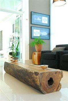 Beautiful Log Coffee Table