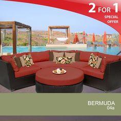 Bermuda 4 Piece Outdoor Wicker Patio Furniture Set 04A