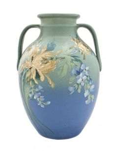 A Weller Pottery Vase, Hester Pillsbury, Height 13 1/2