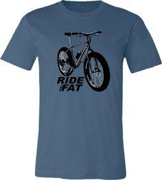 Bicycle T-shirt Ride the Fat Fat Tire Fat Bike by SpokeNwheelz