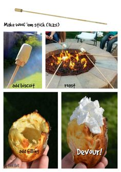 Camping Discover Woof Em: a delicious campfire treat - Her Tool Belt Move over Smore these Woofems are our new favorite campfire treat. Check out the yummy Woofem recipes and super easy stick tutorial. Camping Snacks, Camping Bedarf, Family Camping, Camping Recipes, Camping Cooking, Glamping, Camping Dishes, Camping Breakfast, Camping Trailers