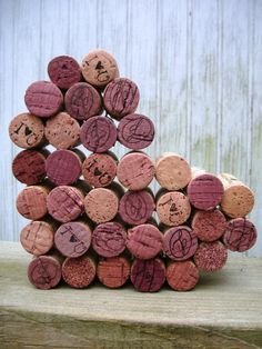 wine cork heart. For engagement and first apartment!!