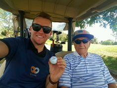 Justin Anderson playing 36 holes with Grandpa! #BeActive at any age