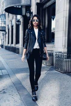 Eine Lederjacke (egal ob Echt- oder Kunstleder) sollte JEDE Frau im Kleiderschrank haben, denn sie macht selbst aus dem schlichtesten Look sofort ein Trend-Outfit...