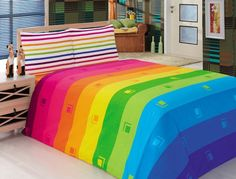 Somewhere over the rainbow Rainbow Bedding, Rainbow Bedroom, World Of Color, Color Of Life, Rainbow Colors, Rainbow Things, Rainbow Stuff, Somewhere Over, Amazing Decor