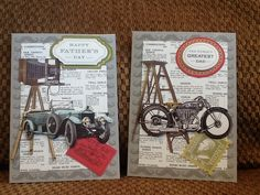 Father's Day cards - Anna Griffin For Him kit