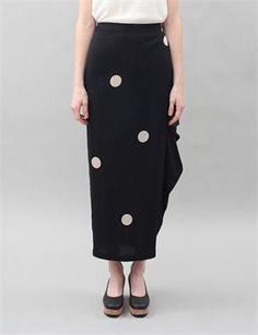 Creatures of Comfort - Marge Skirt - Irregular Dot Black