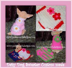 Posh Pooch Designs Dog Clothes: Dog Sweater Custom made - New Etsy Listings | Posh Pooch Designs