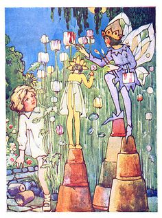 Around Fairyland with Alice - Painting Flowers by moonflygirl, via Flickr
