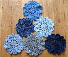 Leuk een omslagdoek maken voor op mijn spijkerjasje met losse bloemen.