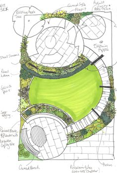 Using #circle motifs in this space help to unite it and get away from the boxy #nature. #EarthDesigns provides #gardendesign #gardenideas in London, Essex and the south-east. #budtobloom #garden #gardenideas #gardensketch #gardenplot #gardenplans #gardenidea #essexgarden #londongarden #designergarden #gardendesigner #landscaper #gardenplans #gardendrawing #landscape #gardenbuilders