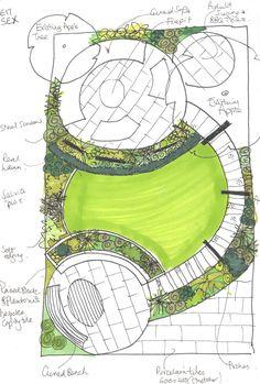 Garden Plans Design Layout Spaces Ideas garden is part of Garden drawing - Tag Design, Layout Design, Design De Configuration, Garden Design Ideas On A Budget, Garden Design Plans, Small Garden Plans, Garden Ideas, Patio Design, Patio Ideas