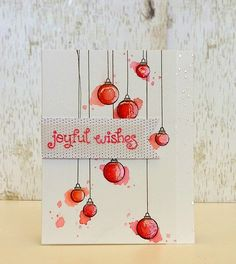 Lawn Fawn - Joy to the Woods _ gorgeous water-colored card by Samantha at Sam's…