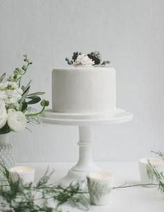 Wedding Cake Inspiration: White Minimalism / See more inspiration on The LANE (instagram @the_lane