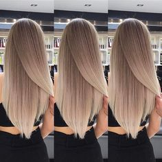 Hair cut and length - Frisuren/Haarfarbe - Hair Styles Hair Inspo, Hair Inspiration, Hair Color And Cut, Blonde Balayage, Blonde Hair, Ombre Hair, Hair Dos, Gorgeous Hair, Hair Hacks