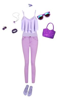 """""""Purple"""" by hjpnosser ❤ liked on Polyvore featuring BKE, Havaianas, Wildfox, Baccarat and Swarovski"""