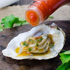 Adding Hot Sauce To Mardi Gras Grilled Oysters Bbq Oysters, Grilled Oysters, Grilled Seafood, Fish Recipes, Seafood Recipes, Cooking Recipes, Egg Recipes, Baked Oyster Recipes, Recipes
