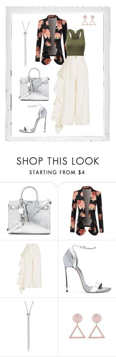"""""""Inverted Triangle Shape- Fashion Forward"""" by jess-thomas14 on Polyvore featuring Polaroid, Yves Saint Laurent, Doublju, Solace, Casadei and BERRICLE"""