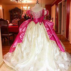 """#Ariel dress in #pink :) #designerdaddy #costume #cosplay #disneyprincess #princessariel #mermaidmonday #mermaid #vinatge #disney"""