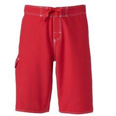Men's Dolfin Fitted Board Shorts, Size: 30, Beig/Green (Beig/Khaki)