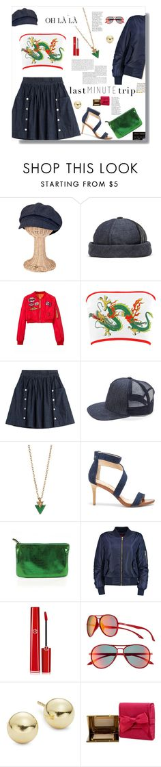 """""""Last Minute Trip"""" by lovelyblk ❤ liked on Polyvore featuring San Diego Hat Co., Marc by Marc Jacobs, Loren Olivia, Sole Society, LOFT, Giorgio Armani, O'Neill, Lord & Taylor and Juicy Couture"""