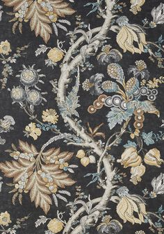 CHATELAIN, Charcoal, T10842, Collection Heritage from Thibaut Foyer Wallpaper, View Wallpaper, Pattern Wallpaper, Construction Wallpaper, Benjamin Moore Colors, Neutral Palette, Designer Wallpaper, Color Trends, Charcoal