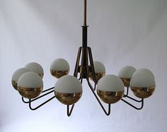 Stilnovo, Chandelier http://www.liveauctioneers.com/catalog/42395_italian-design-and-decorative-arts-of-20th-c/page1