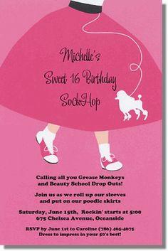 Poodle Skirt Sock Hop Way a great idea foe. Theme party!