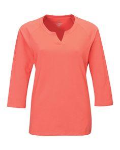 Women's Knit Elbow Tee Sleeve(95% Cotton 5% Spandex)  Tri mountain LB134   #Spandex #ElbowTee #fashion