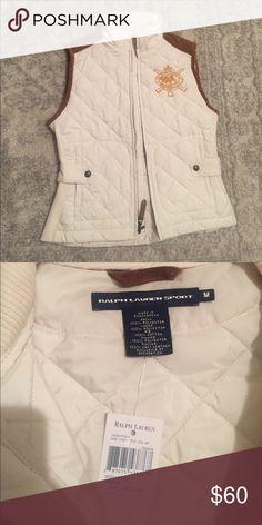 Ralph Lauren cream vest size M Ralph Lauren Sport cream vest size M! NWT Ralph Lauren Jackets & Coats Vests