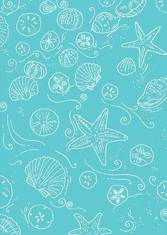 Seashell scrapbook paper