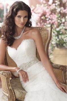 USD 259.99 Sweetheart Wedding Dress Mermaid/Trumpet With Applique Tulle Beaded Chapel Train
