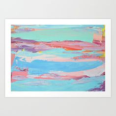 Summer Sun Art Print by Ann Marie Coolick #prints #art #painting #summer #colorful #homedecor #interiors #society6