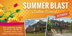 @Ashton Woods Homes is continuing its Summer Blast Sales Event for Atlanta homes until August 19, 2012!* This means that you have even more time to save on a new home.