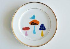 SECONDS SALE Mushrooms plate #3