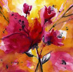 Floral  Impressions ... No. 2 ... Original by Kathy Morton Stanion