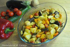 Contorno di patate e verdure al forno