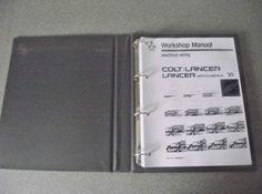 Mitsubishi Colt Lancer Wiring Diagram Manual 1990 PHME8801-1