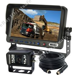 CEMENT TRUCK 7 REAR VIEW BACKUP CAMERA SYSTEM REVERSE FOR SKID STEER