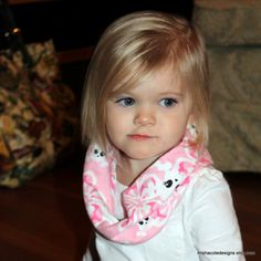 Infant Toddler Infinity Scarf Pink Floral and by mishacoledesigns, $6.50