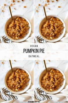 This Vegan Pumpkin Pie Oatmeal is filled with the flavours of fall. If you want pumpkin pie for breakfast, this vegan oatmeal is perfect. #pumpkinpie #veganpumpkinrecipes #veganpumpkinpie #glutenfreeoats #veganoatmeal #veganfallrecipes #glutenfreefallrecipes #pumpkin #pumpkinrecipes #veganbreakfast #glutenfreebreakfast