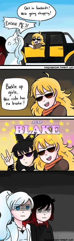 Get in the Yang Mobile by kinzaibatsu91. (Ray is a bad influence)