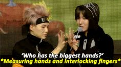 This is the story of how I knew about BTS. Yoongi is me and Hobi is BTS (holds my hand). Me: what the! Let goooo