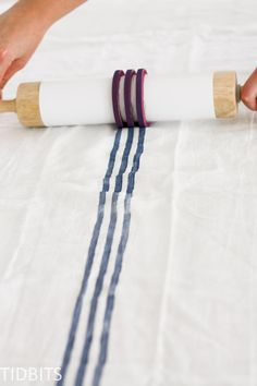 How to Make a Grainsack Stripe Stamp :-: tidbits-cami.com shows how to bleach a dropcloth and uses it to create several projects