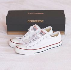 Converse - Chuck Taylor All Star canvas sneakers Mode Converse, Estilo Converse, Converse All Star, White Converse Shoes, Shoes Sneakers, Shoes Heels, Pumps, Top Shoes, Cute Shoes